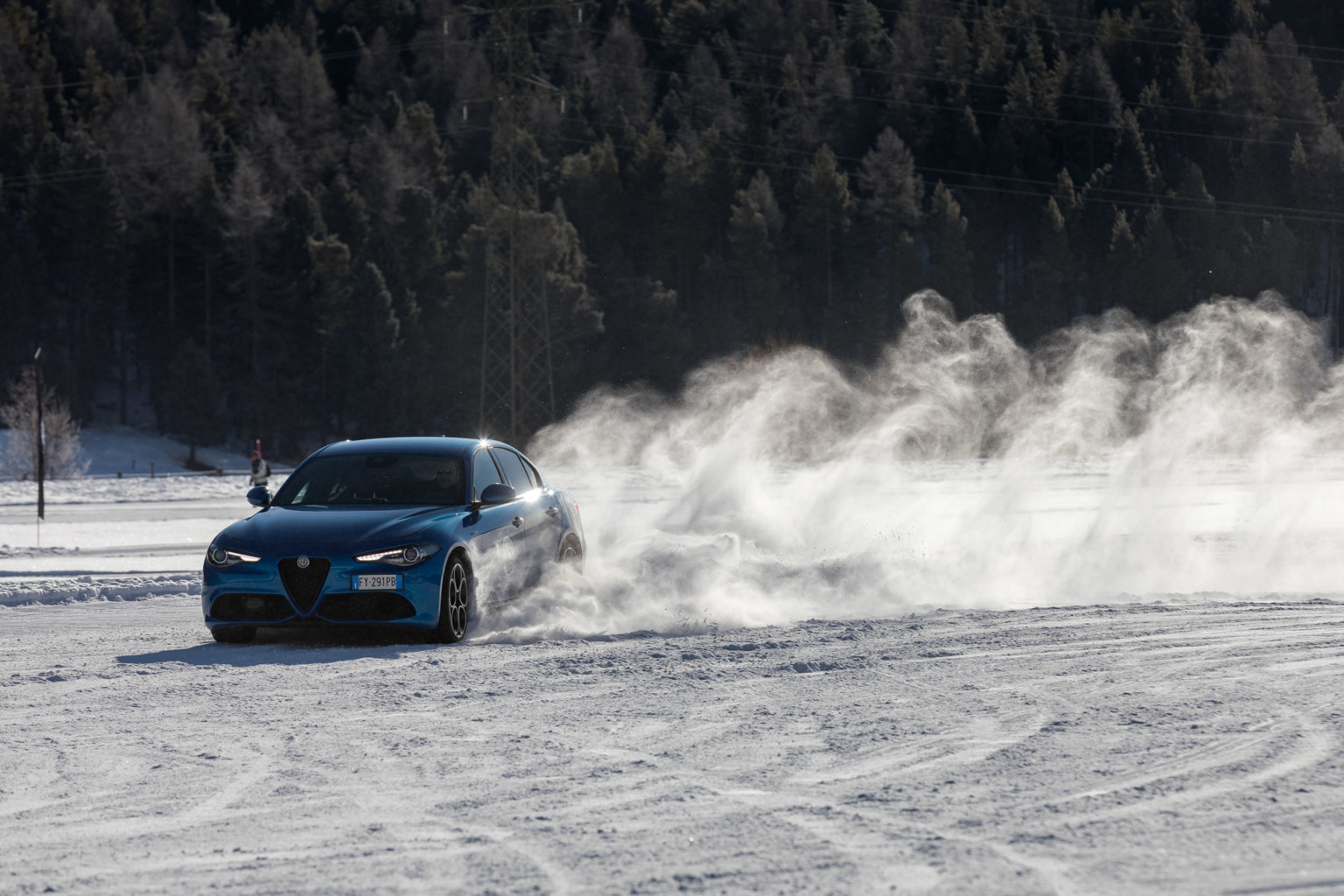 Alfa Romeo Snow Training 2020 Samedan
